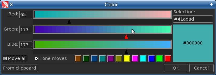 Stand-alone Tk color picker